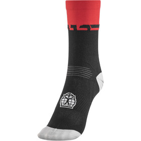 Bioracer Summer Chaussettes, black-red